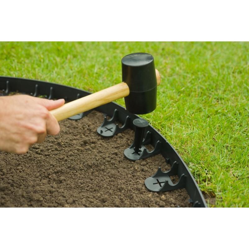 Bordure de jardin flexible noire de 4,5cm de hauteur