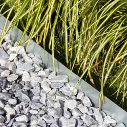Bordure de jardin métallique flexible ou droite